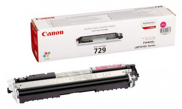 Картридж Canon 729 M для i-SENSYS LBP7010C и LBP7018C. Пурпурный. 1000 страниц.